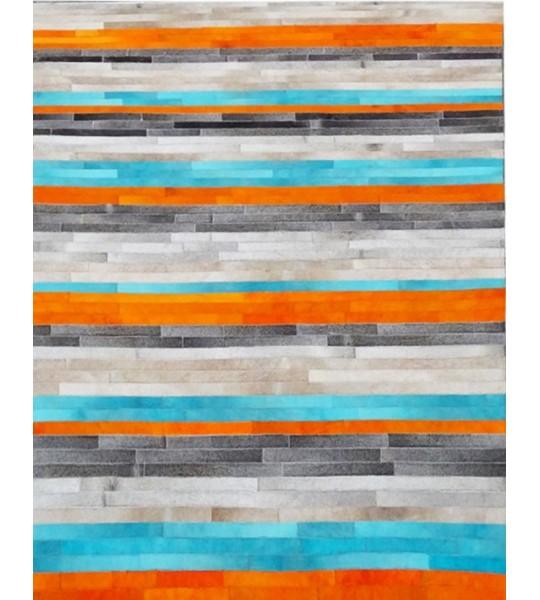 Achat tapis fait main, tapis moderne cuir patchwork kilim ou ...